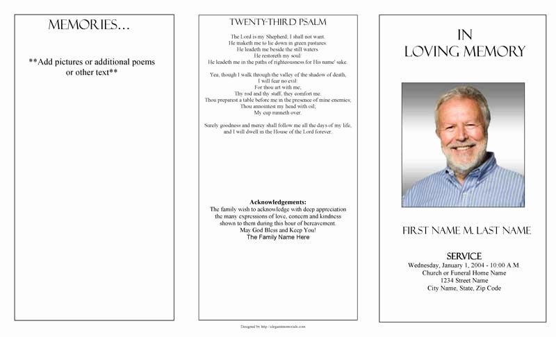 Word Funeral Program Template Elegant Funeral Program Templates