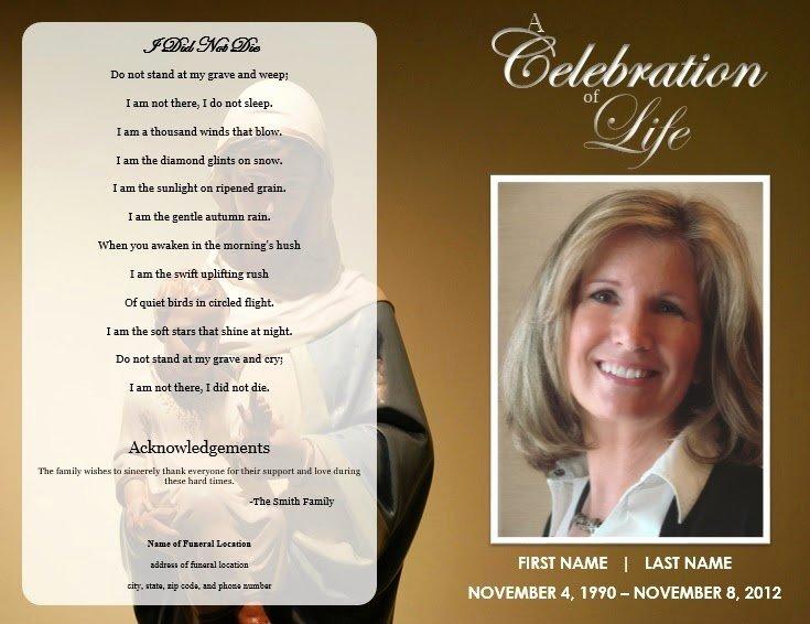 Word Funeral Program Template Inspirational the Funeral Memorial Program Blog Free Funeral Program