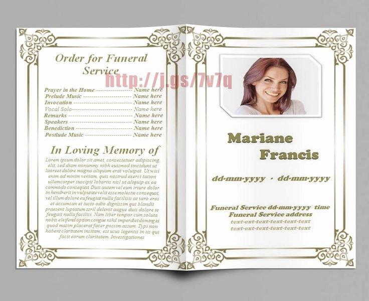 Word Funeral Program Template Lovely 74 Best Funeral Program Templates for Ms Word to Download