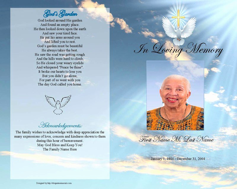 Word Funeral Program Template Lovely Free Funeral Program Templates for Word Pics – Funeral