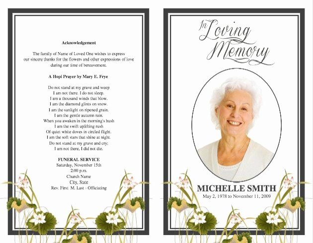 Word Funeral Program Template New Funeral Program Template