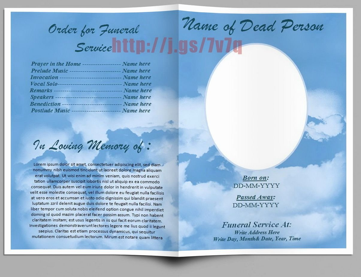 Word Funeral Program Template Unique Pin On Funeral Program Templates for Ms Word to Download