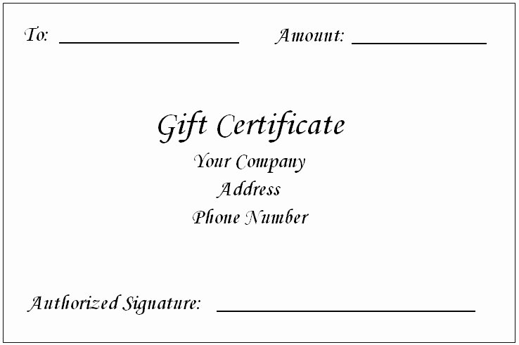 Word Gift Certificate Template Beautiful Gift Certificate Template Word