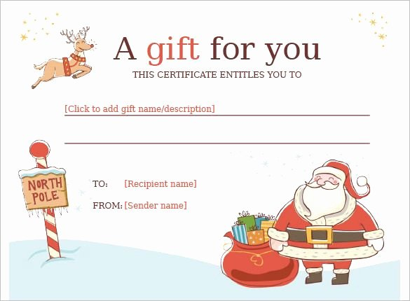 Word Gift Certificate Template Best Of Christmas Gift Certificate Template 11 Word Pdf