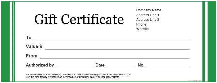 Word Gift Certificate Template Elegant Certificate Templates