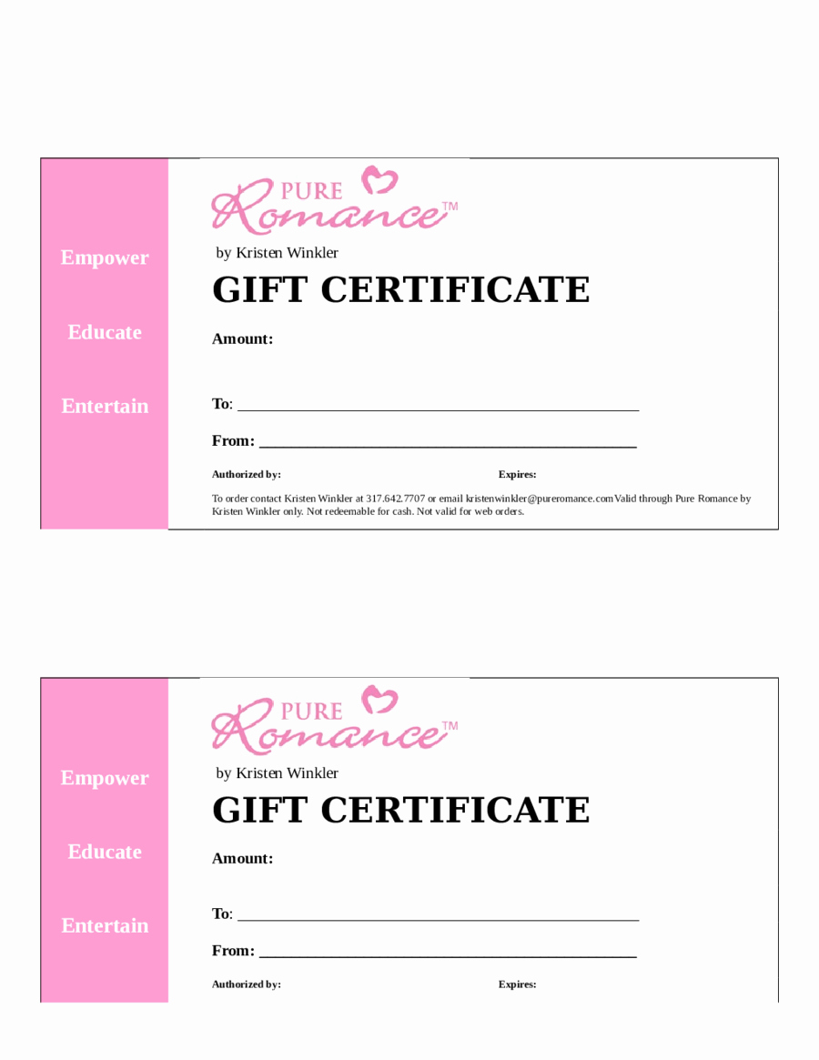 Word Gift Certificate Template Fresh Blank Gift Certificate Template Word