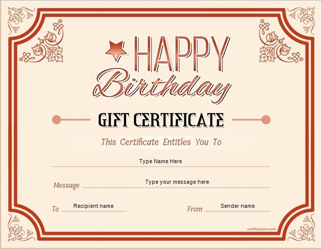 Word Gift Certificate Template Inspirational Pin by Alizbath Adam On Certificates
