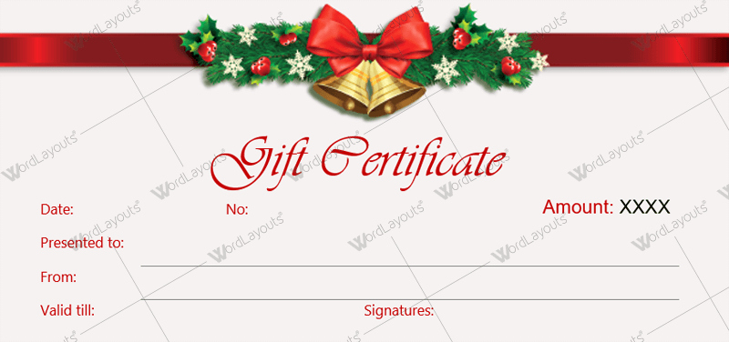 Word Gift Certificate Template Lovely Christmas Gift Certificate Templates for Word Editable