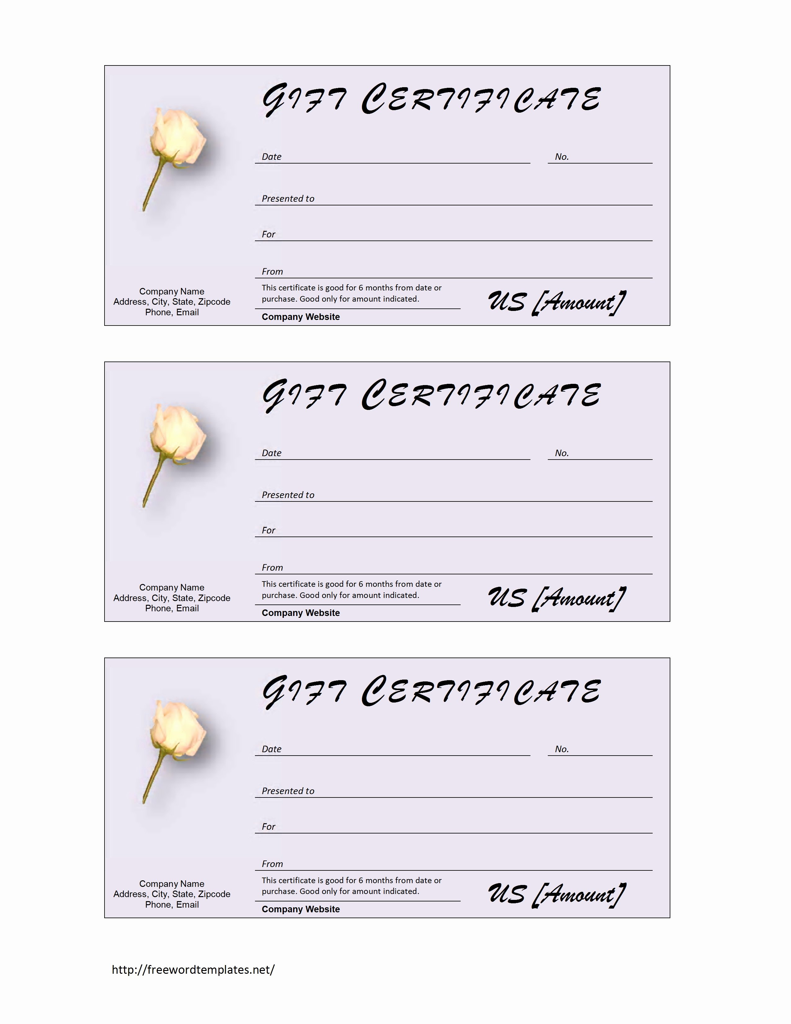 Word Gift Certificate Template New Trainfile Blog
