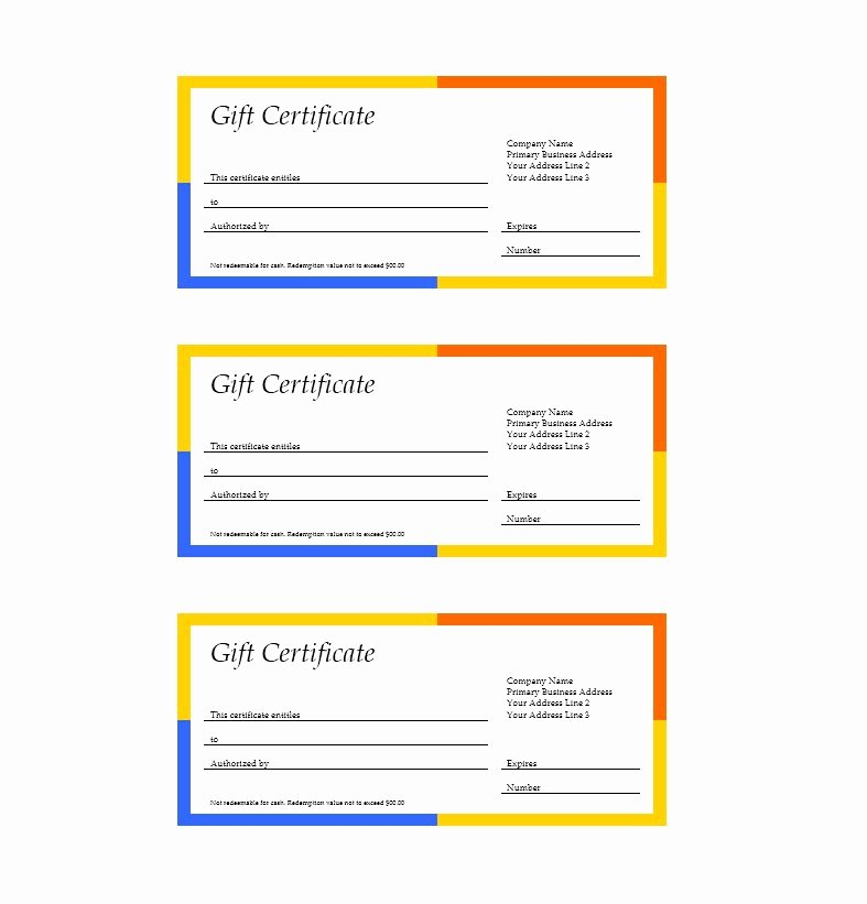 Word Gift Certificate Template Unique 31 Free Gift Certificate Templates Template Lab