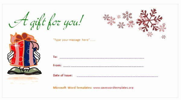 Word Gift Certificate Template Unique Gift Voucher Templates Word Pics – Gift Voucher Template 3