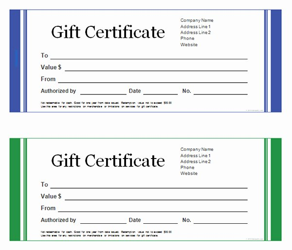 Word Gift Certificate Template Unique Printable Gift Certificate Templates