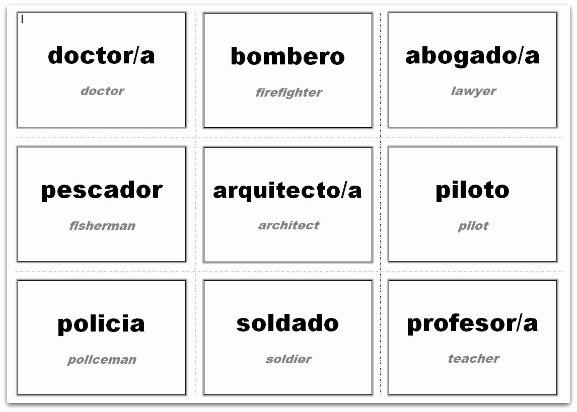 Word Templates for Cards Best Of Vocabulary Flash Cards Using Ms Word