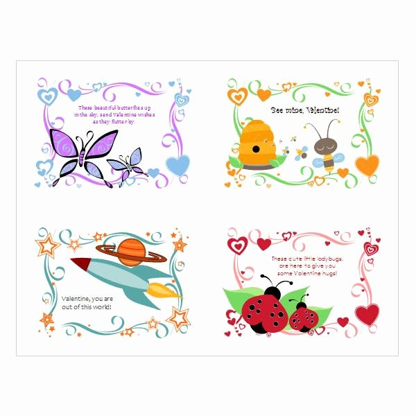 Word Templates for Cards Fresh 5 Free Valentine's Day Templates and Designs From