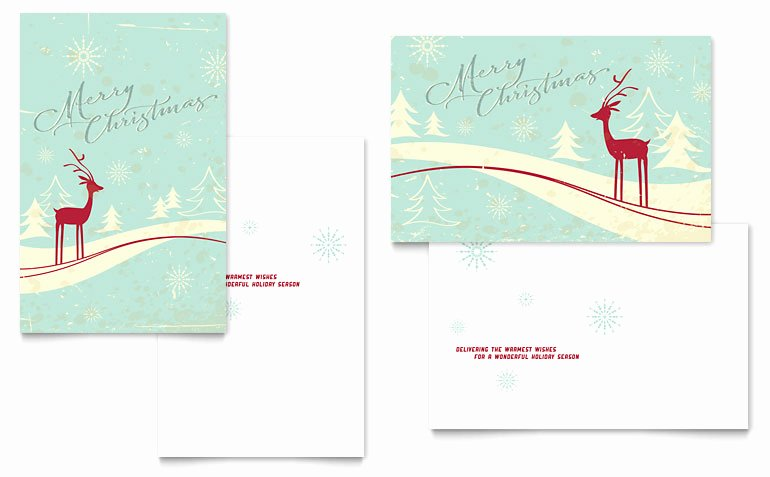 Word Templates for Cards Fresh Antique Deer Greeting Card Template Word & Publisher