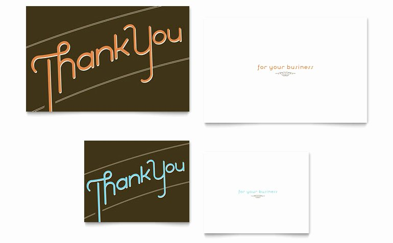Word Templates for Cards Lovely Thank You Note Card Template Word & Publisher