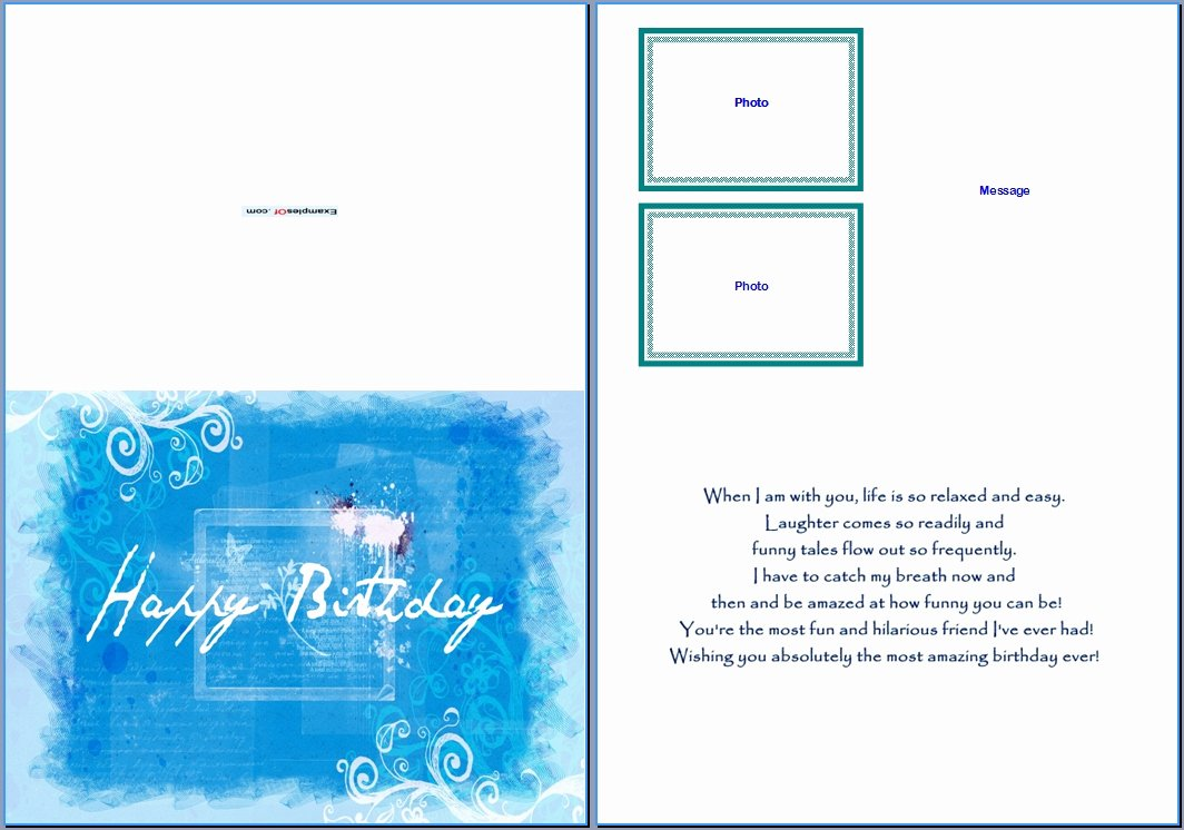 Word Templates for Cards Luxury Birthday Card Template