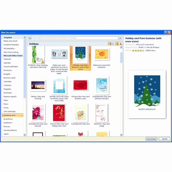 Word Templates for Cards New where to Find Free Microsoft Fice Greeting Card Templates
