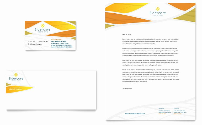 Word Templates for Cards Unique assisted Living Business Card & Letterhead Template Word