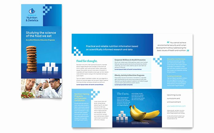 Word Tri Fold Templates Awesome Dietitian Tri Fold Brochure Template Word & Publisher