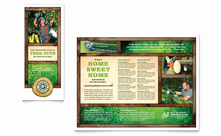 Word Tri Fold Templates Awesome Tree Service Tri Fold Brochure Template Word & Publisher