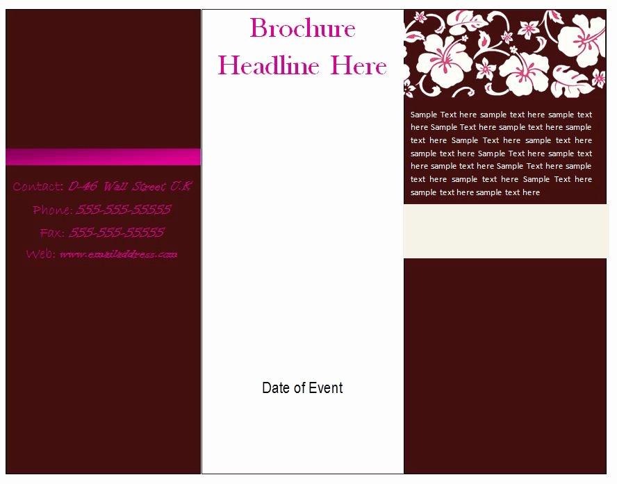 Word Tri Fold Templates Beautiful Brochure Templates Free