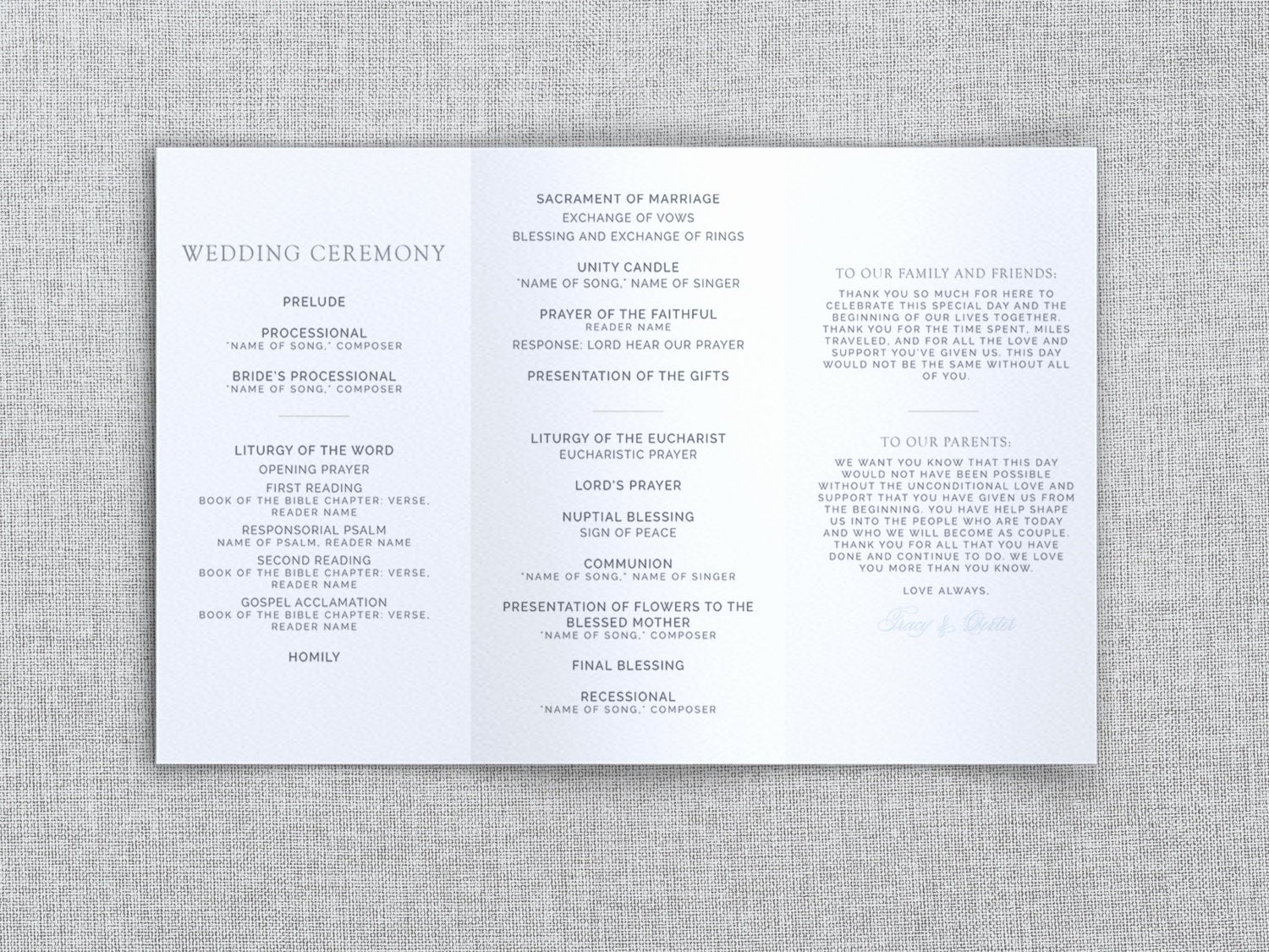 Word Tri Fold Templates Beautiful Just My Type Wedding Tri Fold Wedding Program Template