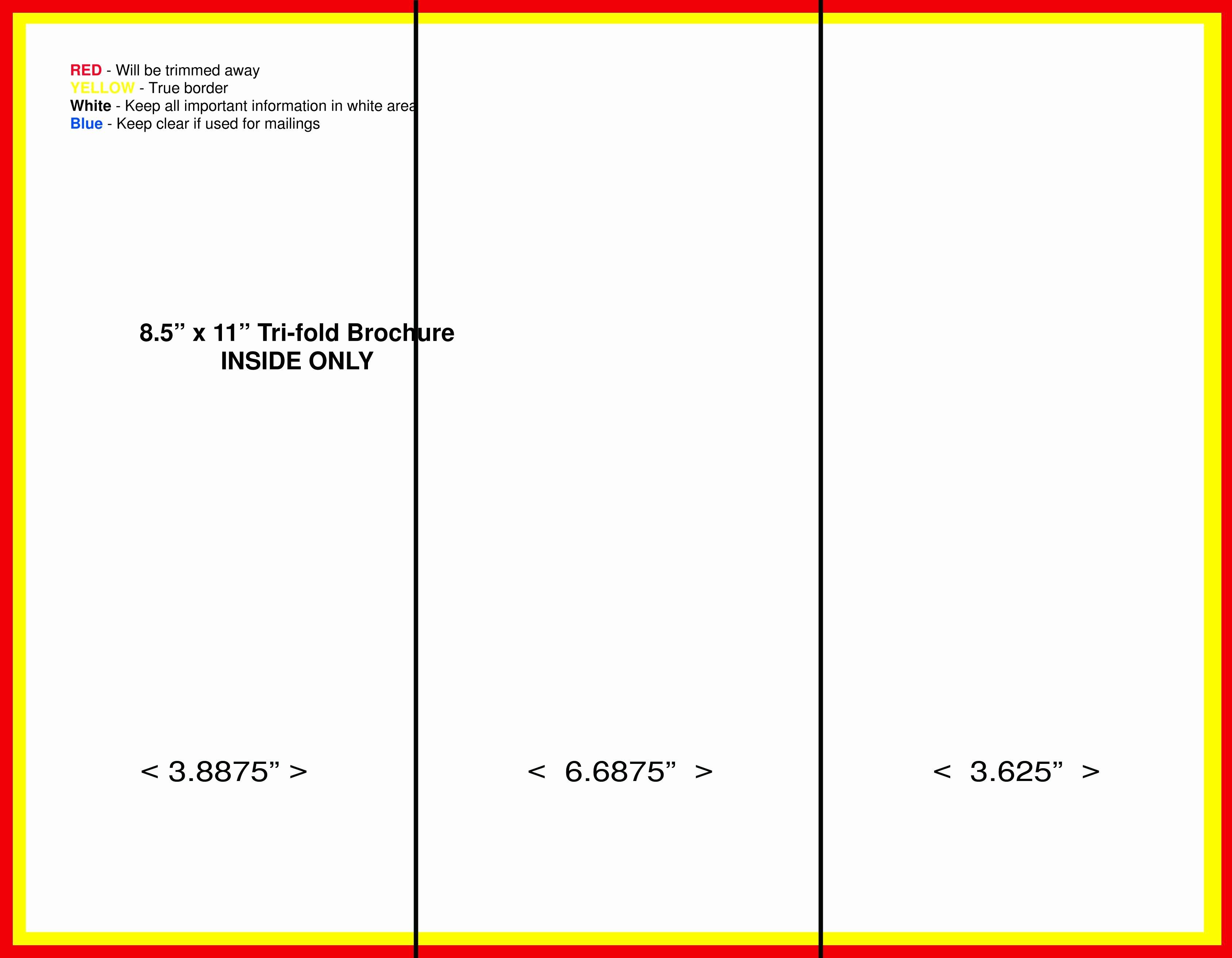 Word Tri Fold Templates Fresh Blank Tri Fold Brochure Template Free Download