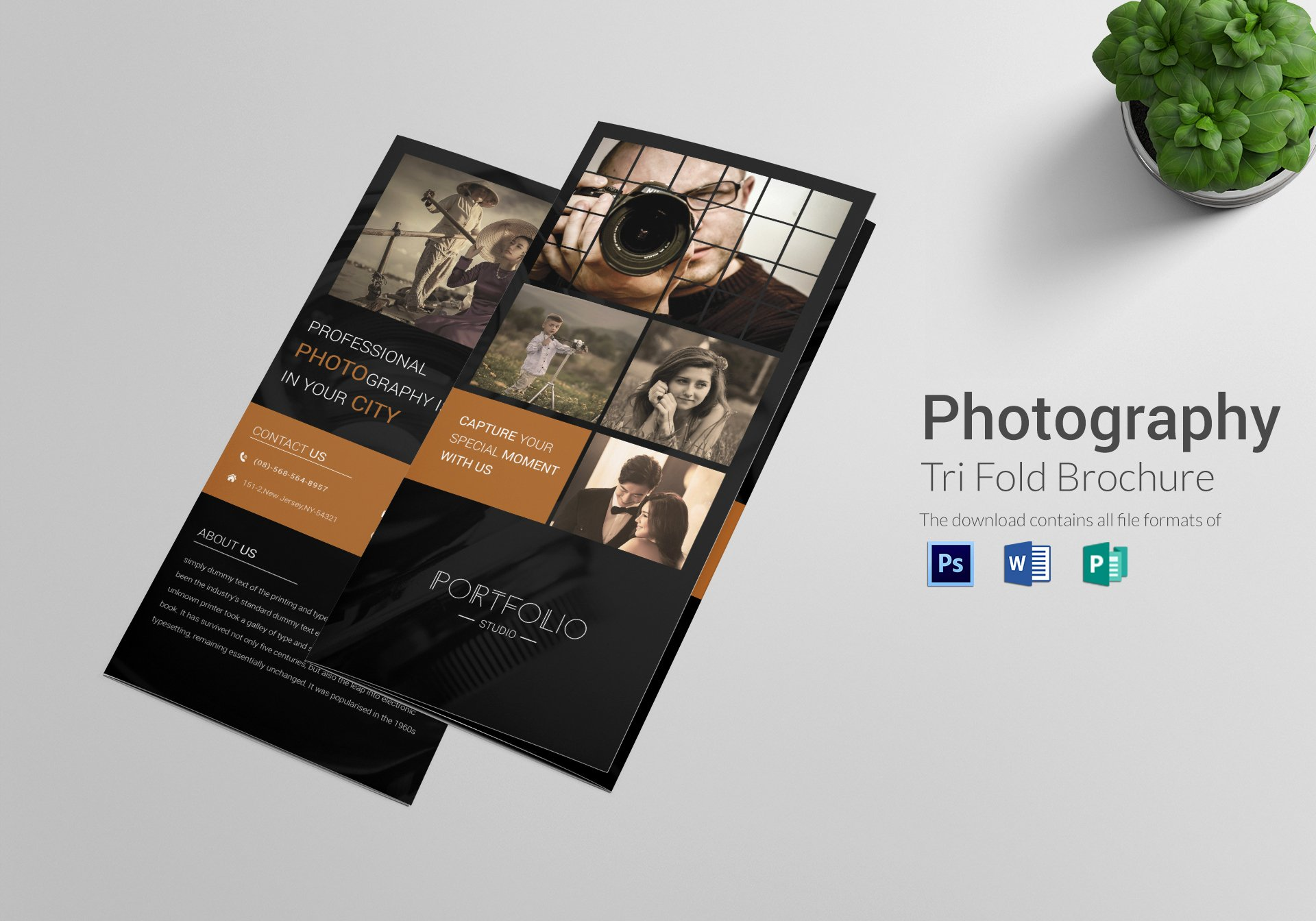 Word Tri Fold Templates Inspirational Graphy Brochure Tri Fold Design Template In Psd Word