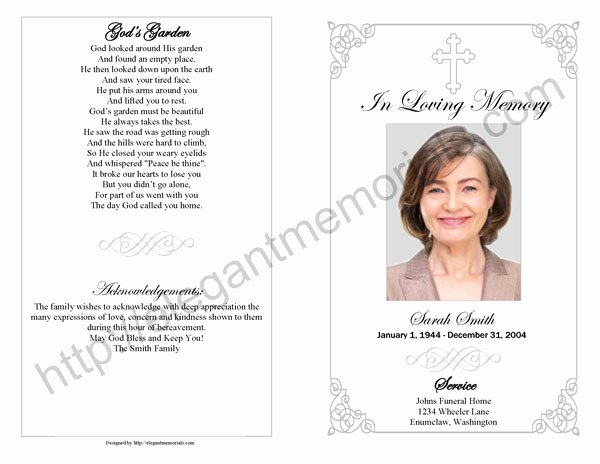 Wording for Funeral Programs Awesome Download Wording for A Funeral Program Free Simfilecloud