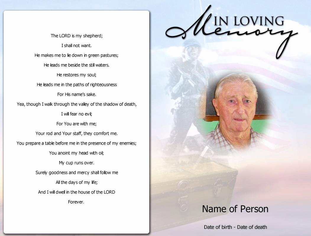 Wording for Funeral Programs Beautiful Obituary Template Father