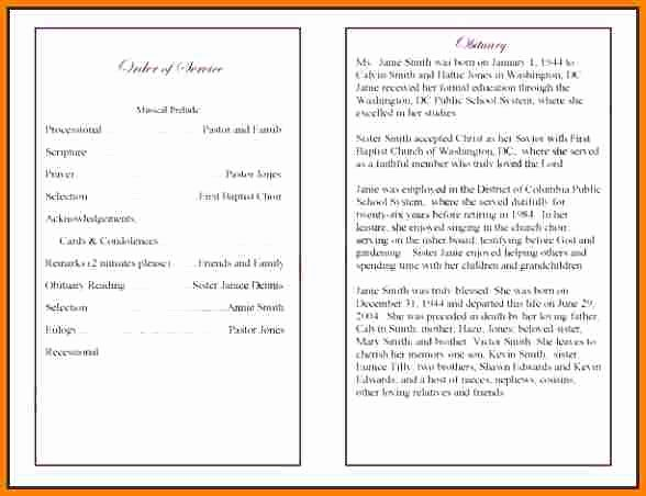 Wording for Funeral Programs Best Of 5 Funeral Program Wording