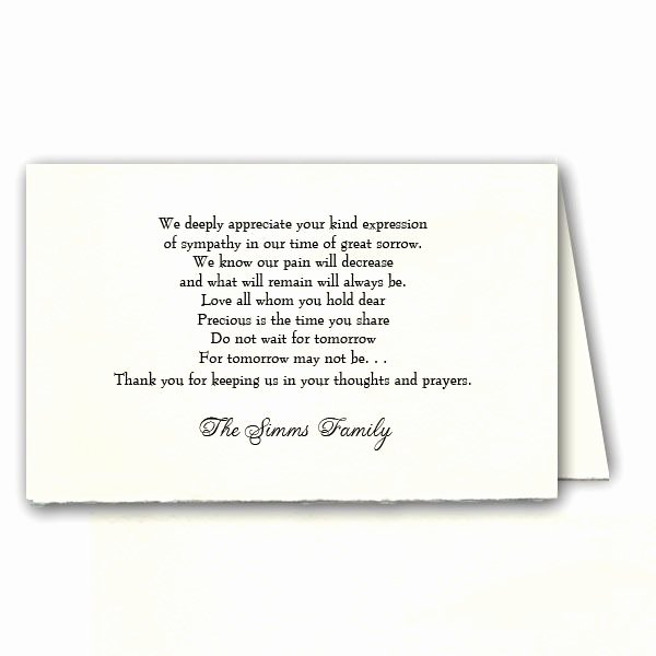 Wording for Funeral Programs Lovely Funeral Program Thank You Helperpartners