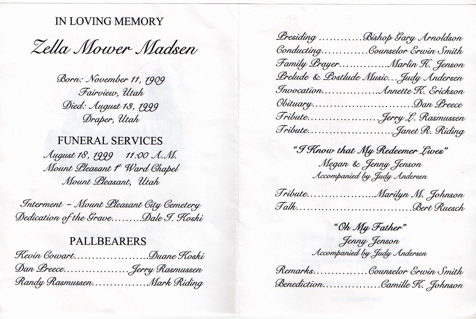 Wording for Funeral Programs Lovely Inspirational Quotes for Funeral Programs Quotesgram