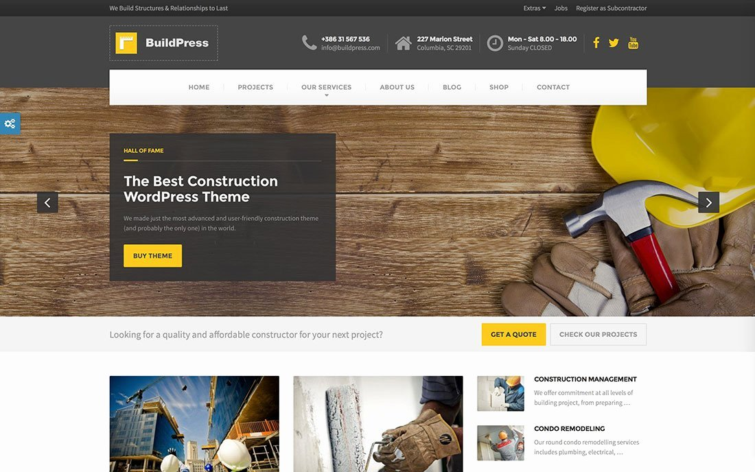 Wordpress Product Catalog theme Awesome 30 Professional Construction and Architecture Wordpress