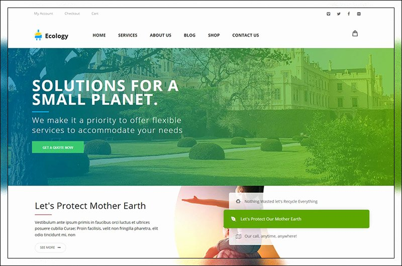 Wordpress Product Catalog theme Beautiful top 14 Ecology & Environmental Wordpress themes 2019