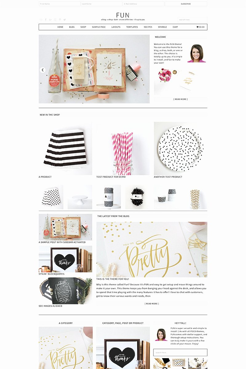 Wordpress Product Catalog theme Fresh Fun Wordpress theme • Pretty Darn Cute Design