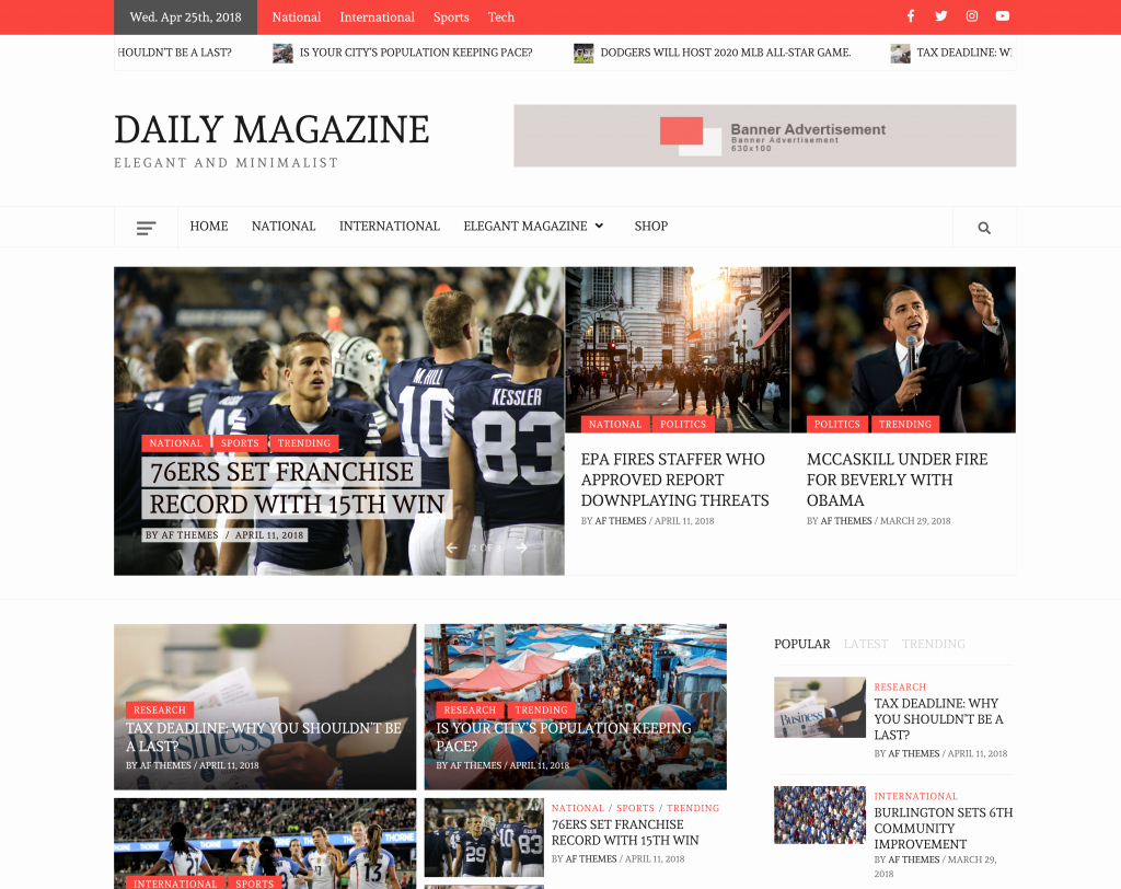 Wordpress Product Catalog theme Luxury Daily Magazine – Clean Elegant and Minimalist Free