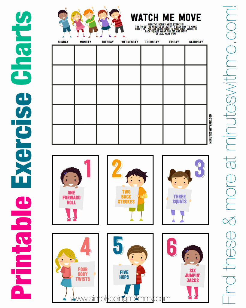 Work Out Chart Lovely 5 Fitness Tips for Kids