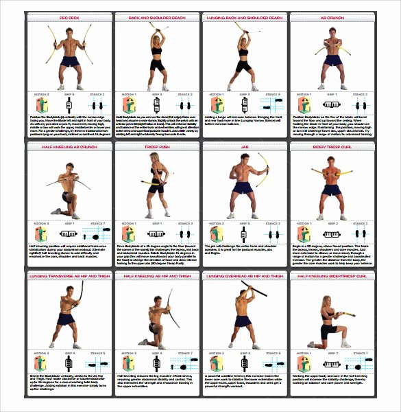 Work Out Chart Unique Sample Exercise Chart 6 Documents In Pdf