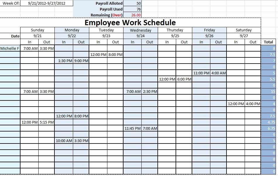Work Plan Templates Excel Awesome Work Schedule Templates Free Downloads