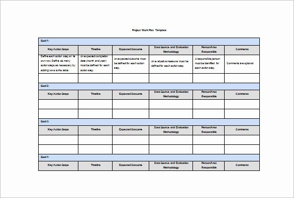 Work Plan Templates Excel Beautiful Work Plan Template In Excel – Printable Schedule Template