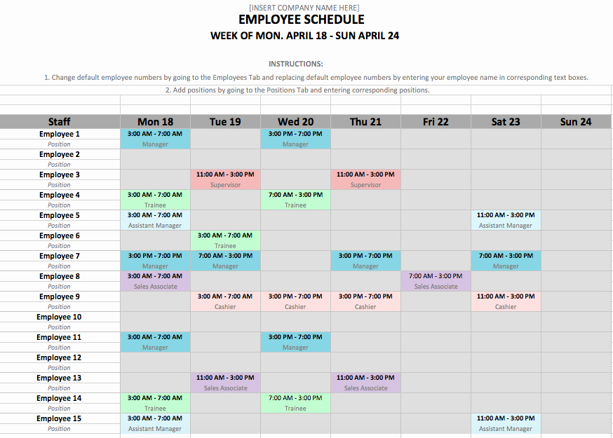 Work Plan Templates Excel Inspirational if You Manage Employees Chances are You Need An Employee