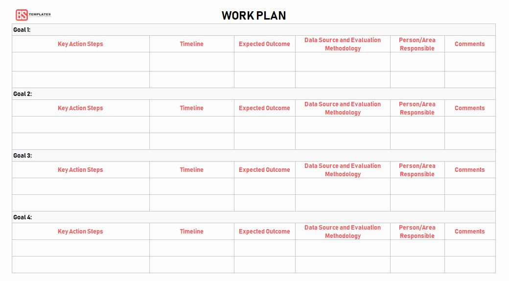Work Plan Templates Excel Luxury Work Plan [ Templates Samples