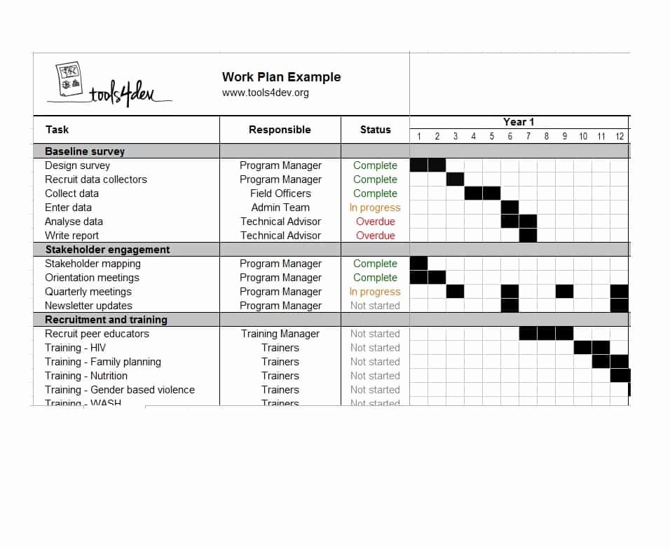 Work Plan Templates Excel New Work Plan 40 Great Templates & Samples Excel Word