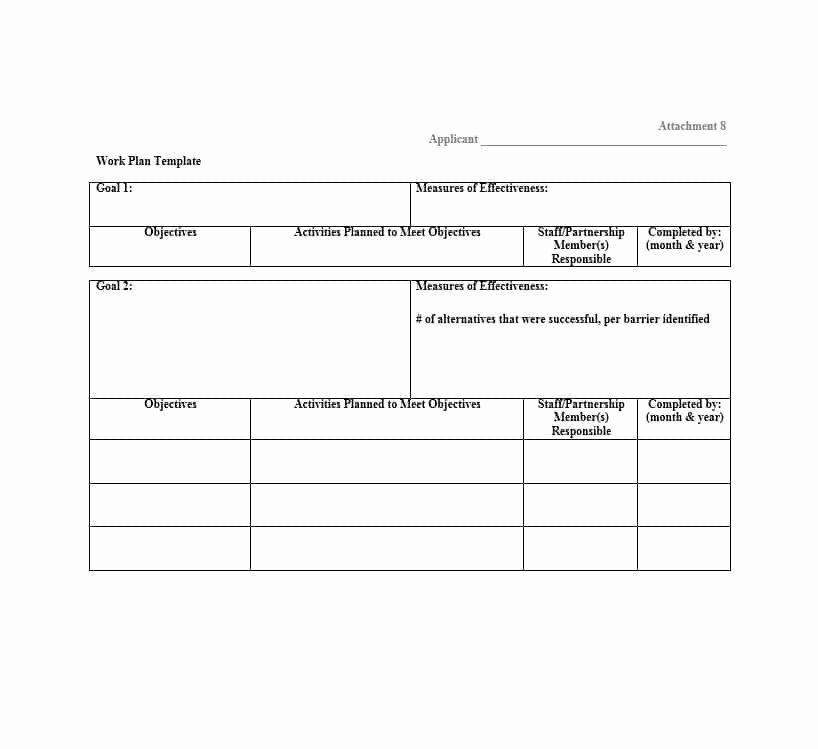 Work Planning Template Excel Beautiful Work Plan 40 Great Templates & Samples Excel Word