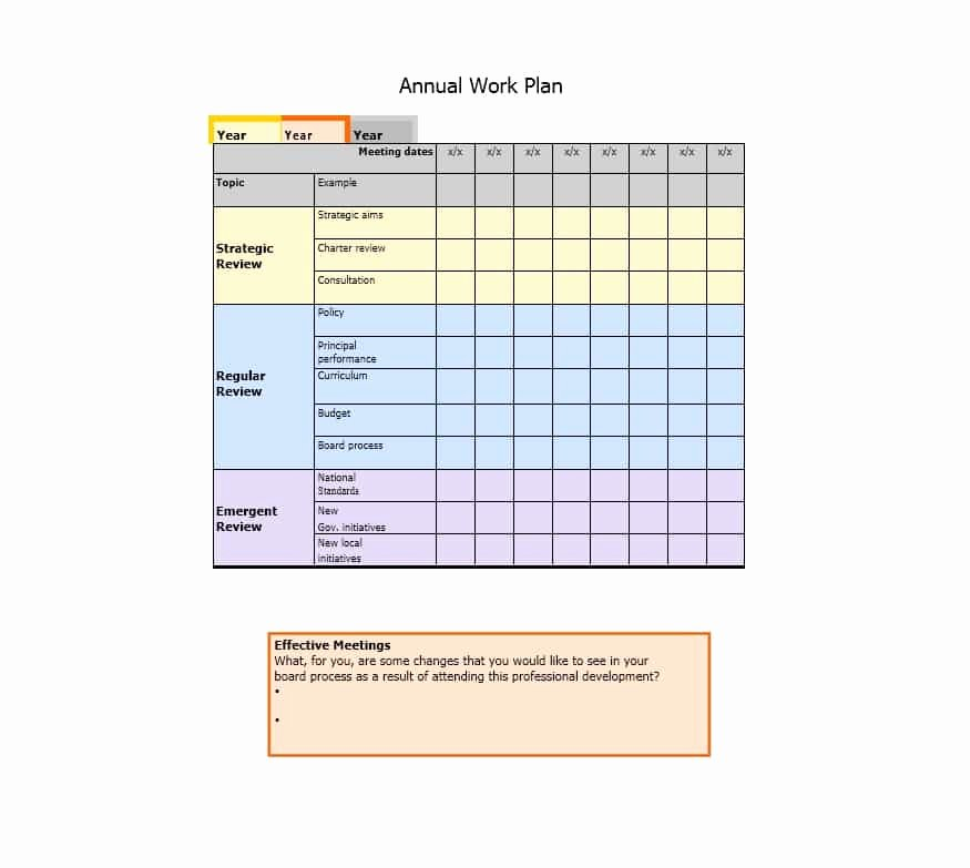 Work Planning Template Excel Lovely Work Plan 40 Great Templates & Samples Excel Word