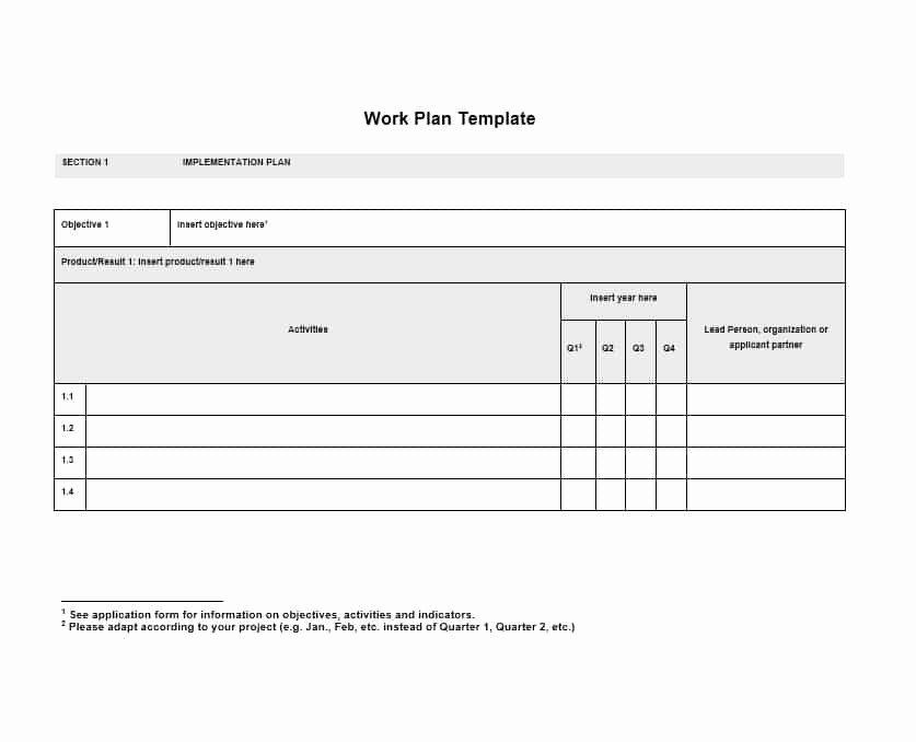 Work Planning Template Excel Luxury Work Plan 40 Great Templates & Samples Excel Word