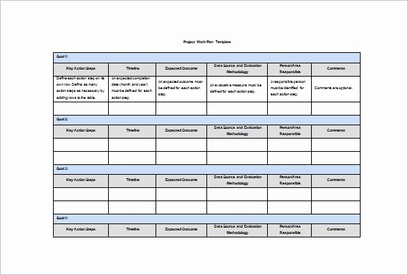 Work Planning Template Excel New Work Plan Template 12 Free Word Pdf Documents Download