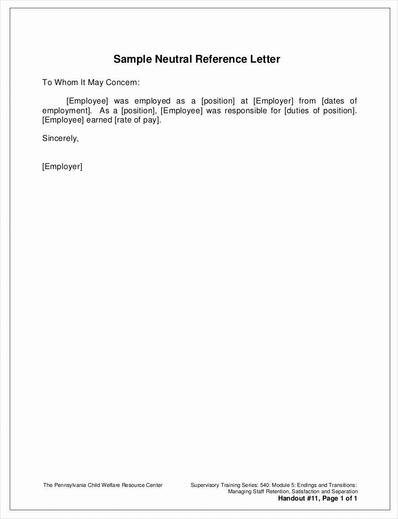 Work Reference Letter Sample Inspirational Free 9 Employee Reference Letter Samples In Pdf
